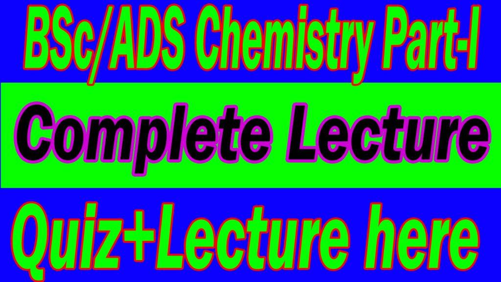 B.Sc Chemistry Part-I
