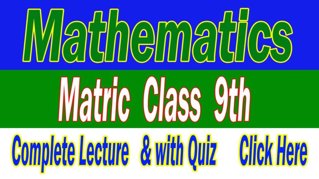 Mathematics 9th class