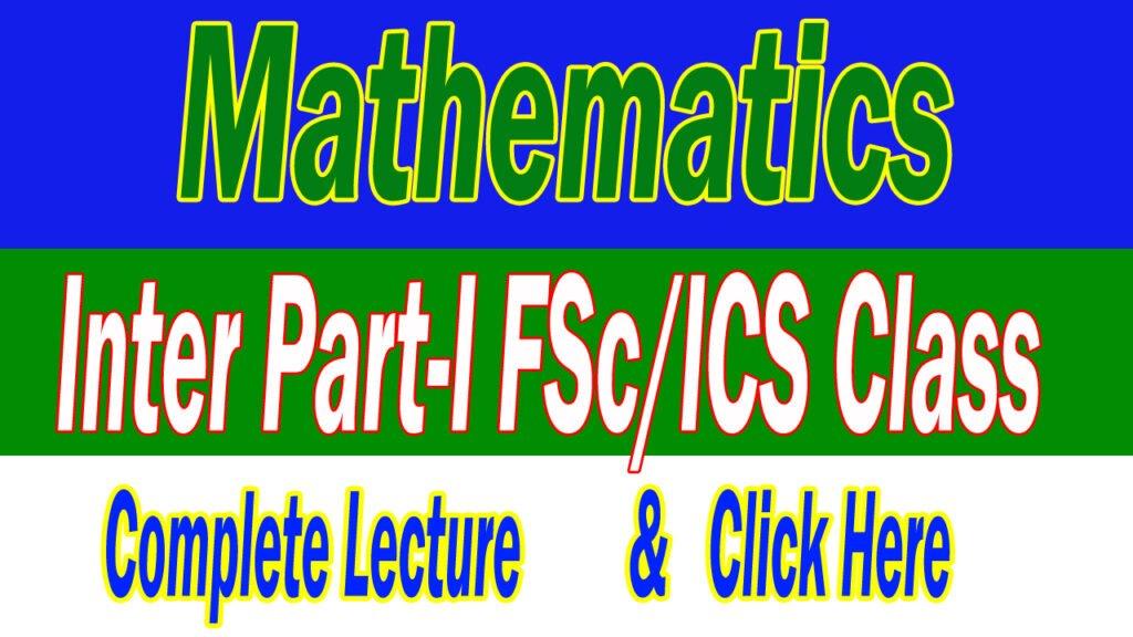Maths-Part-I