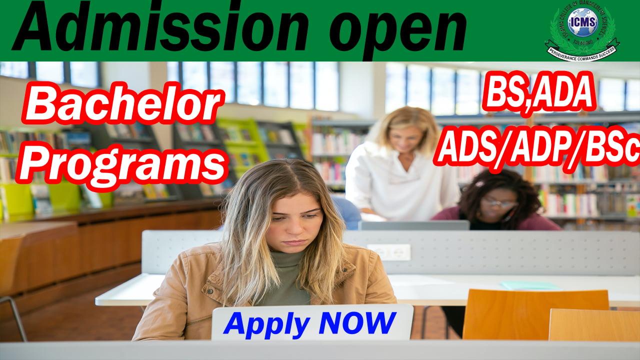 Latest Bachelors (BA/BSc/ADP) Admission