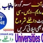 Latest Universities Updates & Admission 2021