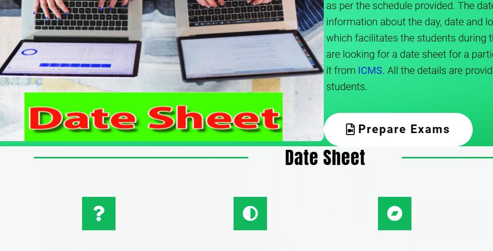 Date sheet for Bachelor/Master University Sargodha and IUB 2021