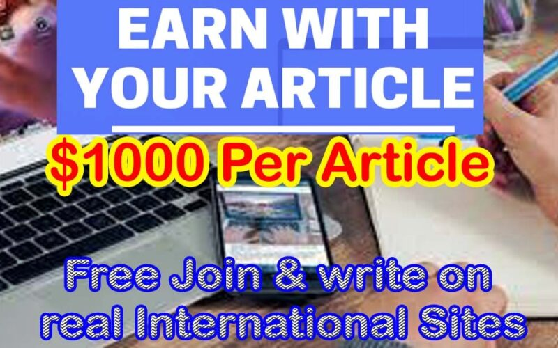 Latest 27 websites that pay $300 to $1000+ per article 2021