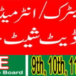 New Date Sheet for Matric (9th & 10th) inter (11th & 12th) 2021