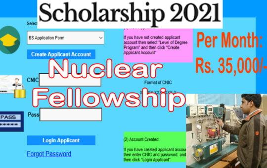 Nuclear Engineering Fellowship / Scholarship 2021