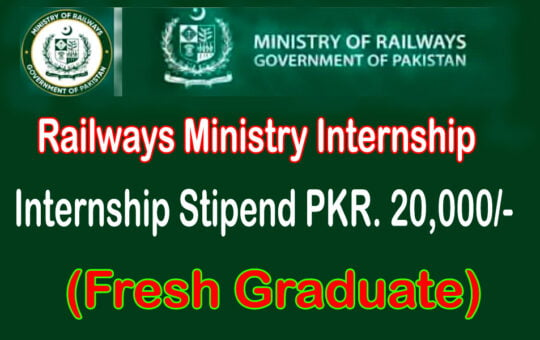 Fresh Graduate Railways Ministry Internship 2021