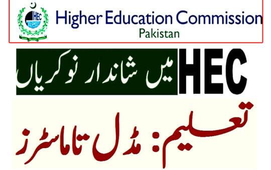 HEC New jobs 2021 Apply online now