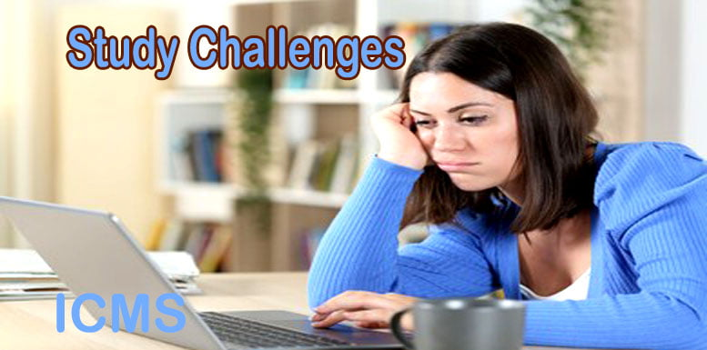 What are the top challenges facing online study